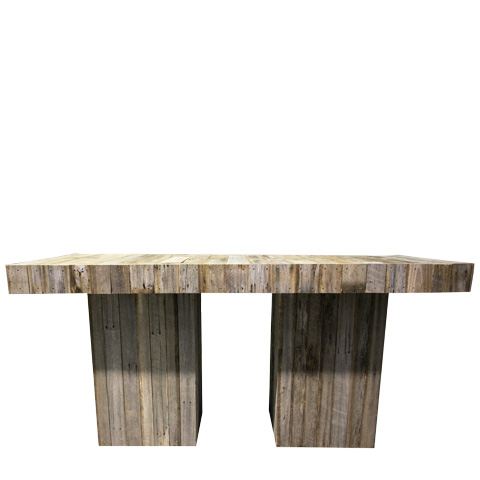 Rustic Bench Bar Table