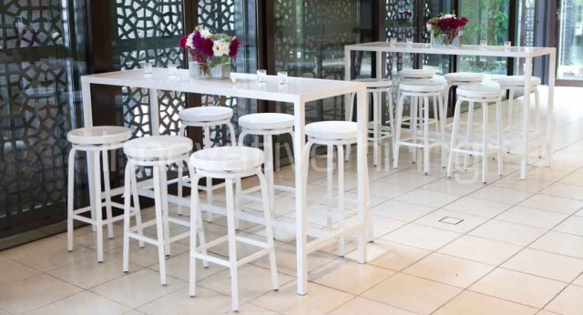 Features: Rectangular Bench Bars & Marine Bar Stools