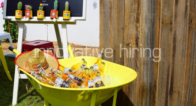 Features: Rustic Bar & Booze Barrow