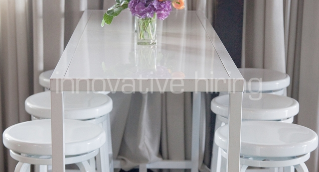 Features: Rectangle Bench Bar & Marine Bar Stools