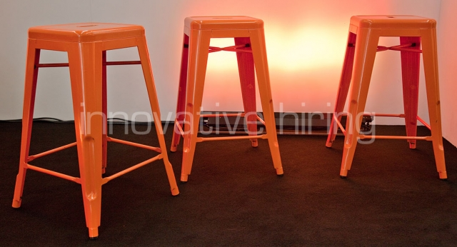 Features: Tolix Bar Stools