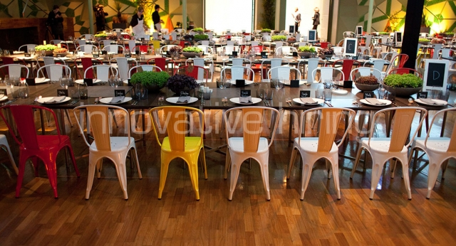 Features: Coloured Tolix Chairs