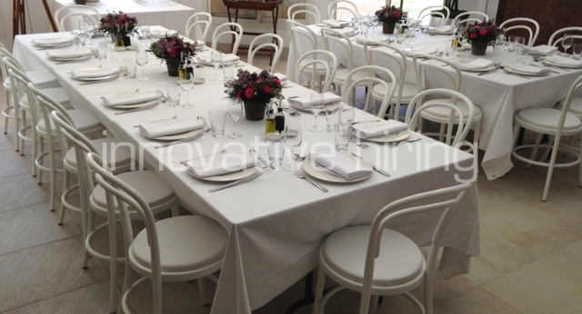 Features: Bentwood Dining Chairs with Pads
