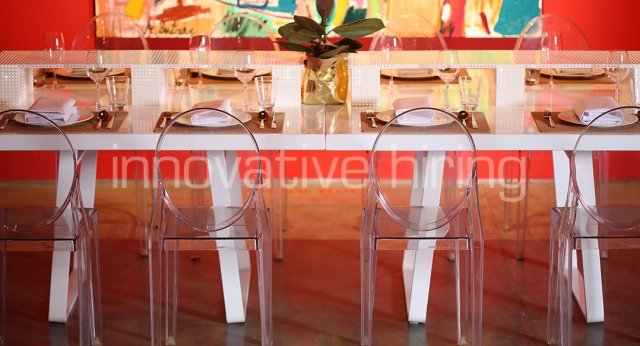 Features: Victoria Ghost Chairs & Windsor Dining Tables