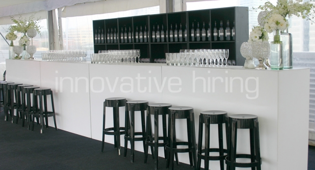 Features: Standard Bar with Charles Ghost Stools