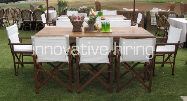 Features: Provincial Dining Tables with Director's Chairs