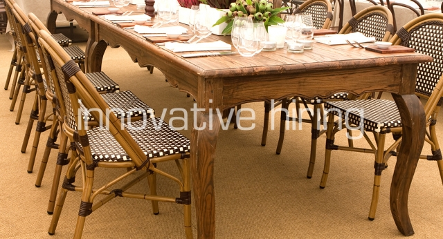 Features: Paris Chair with Provincial Dining Table