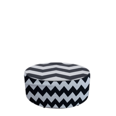 Chevron Covered Ottoman